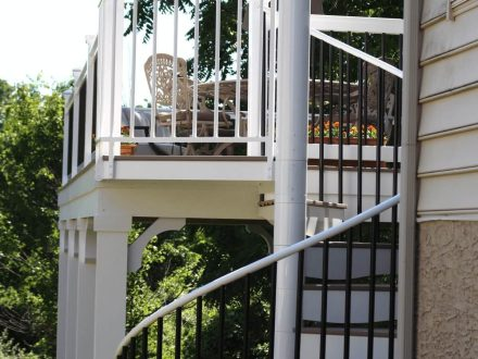 Two Story Deck with Spiral Staircase