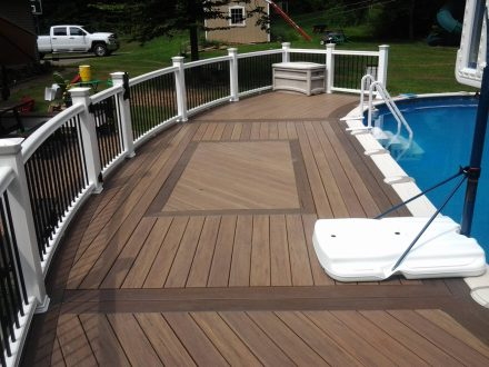 Custom Pool Deck with Railing