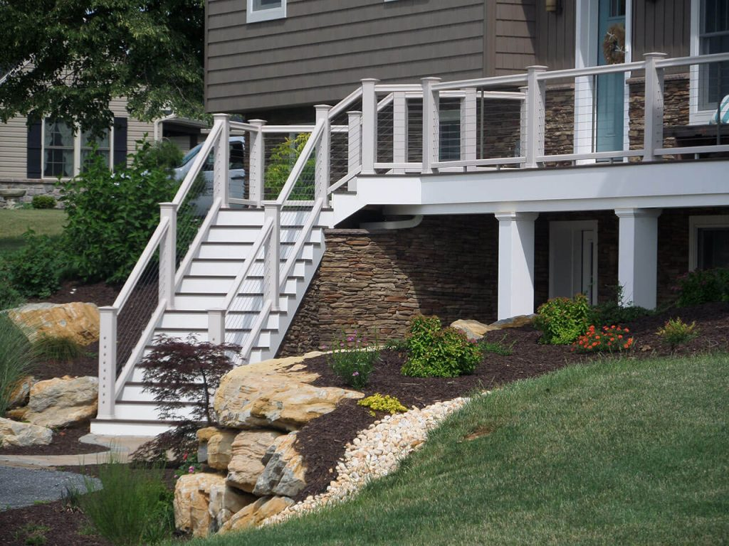 Smucker Renovation - Deck Stairs