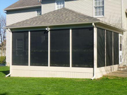 composite screened in deck