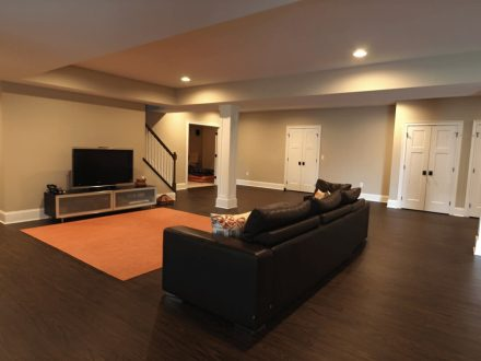 Finished Basement with Large Open Area