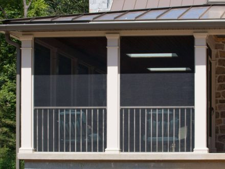 Screened-In Porch with Westbury ScreenRail