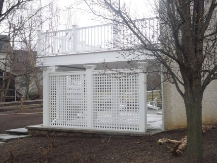 Phoenixville PA deck with lattice wall