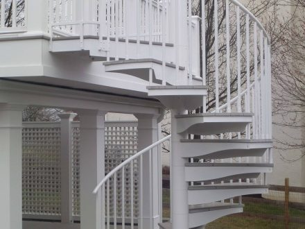 Power Coated Aluminum Stair Railing