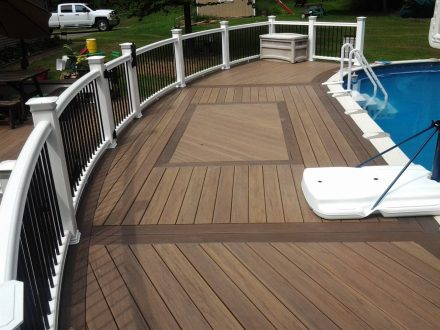 Curved Top Deck Around Pool