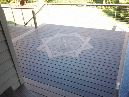 Deck with a Compass Design