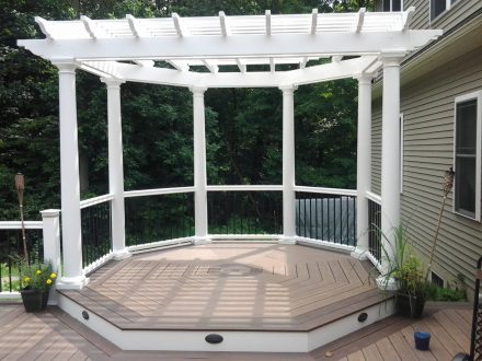 Octagon Shaped Decked with Pergola