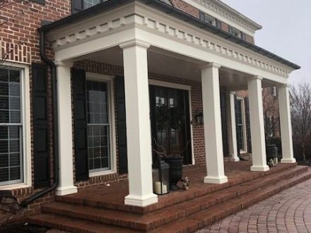 brick front porch with columns