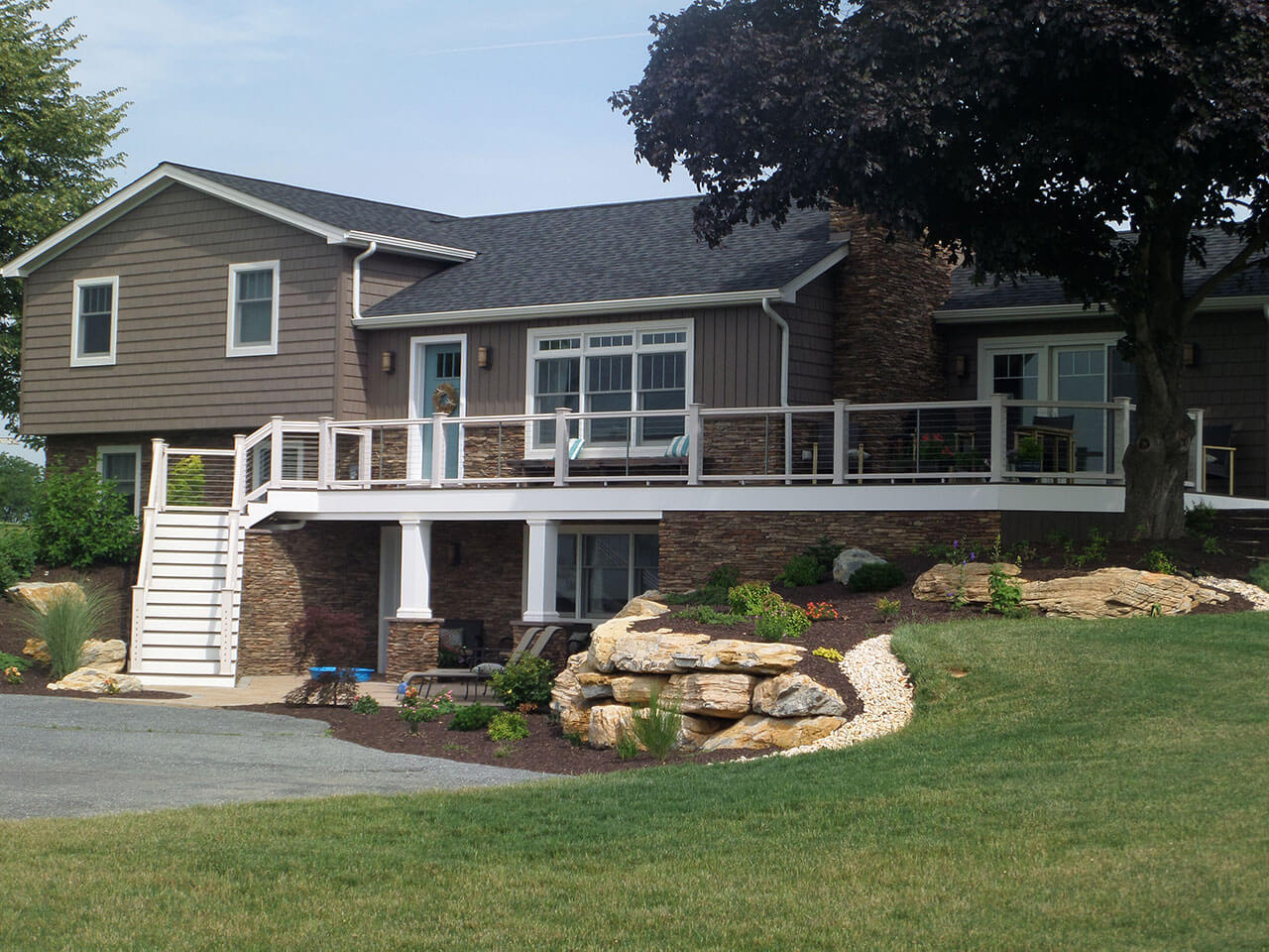 a new deck addition by smucker brothers construction