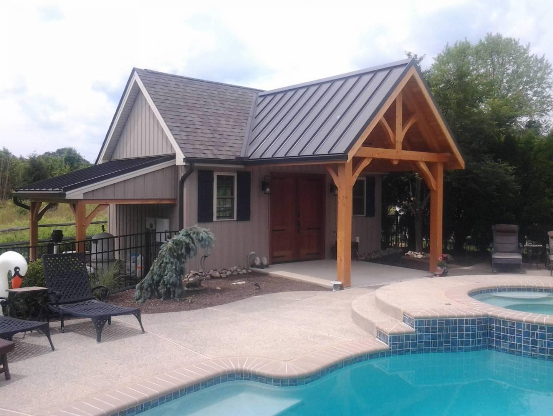 a custom pool house addition